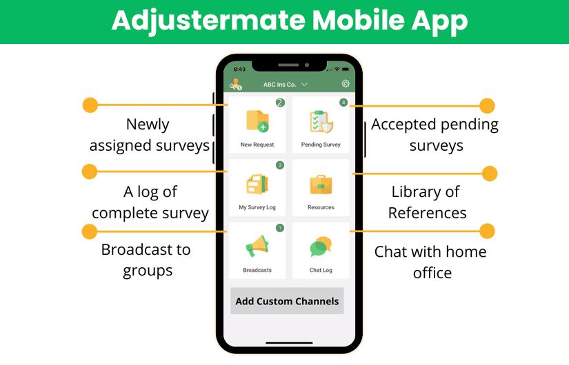 Adjustermate app for US Insurers