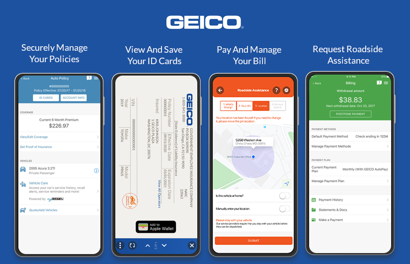 Geico Auto Insurance Mobile App