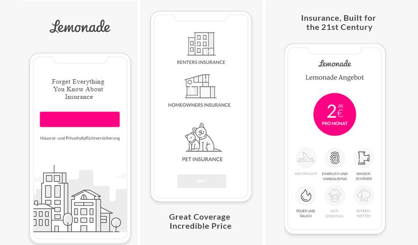 Lemonade homeowner and renter app